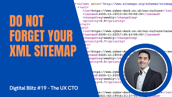 Don't forget your XML Sitemap