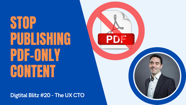 Stop publishing PDF-only content on your website