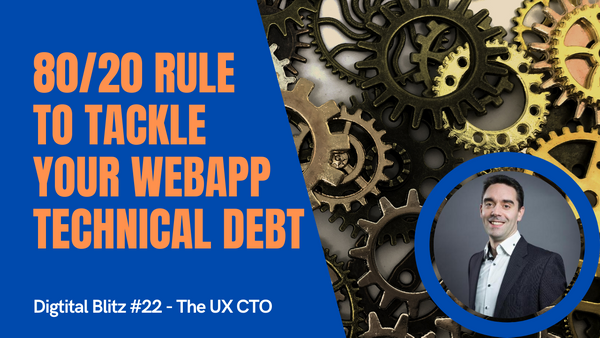 The 80/20 rule to deal with technical debt & refactoring