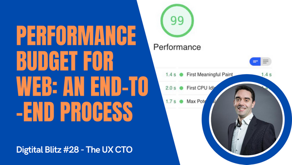 Performance budgets - how to manage the end to end process